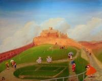 Spišský hrad v děšti